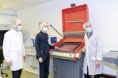 Die Schreiner Group hat dieses System im den Produktionsbetrieb integriert (Quelle: Schreiner Group)