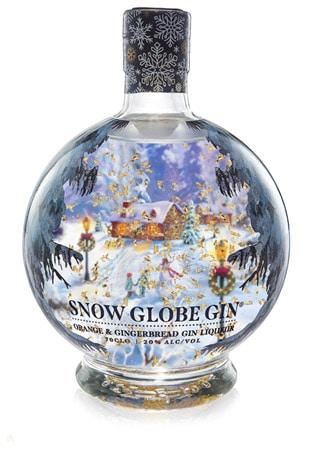 Der 360-Grad-Shrink-Sleeve verleiht dem Snow Globe Gin eine sehr festliche Note (Quelle: Berkshire Labels)
