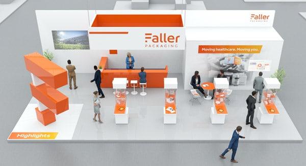 Faller Packaging hat für seine Kunden einen virtuellen Messestand entwickelt (Quelle: Alle Fotos: August Faller GmbH & Co.KG)