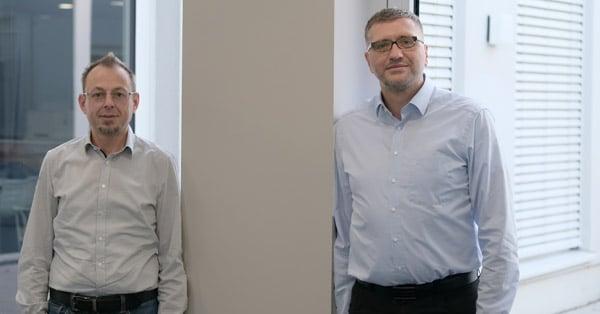 Frank Laux (l.) und Jens Bergmann haben ihre ersten Erfahrungen bei Robos gemacht und starten zufrieden und motiviert in das neue Jahr 2021 (Quelle: Robos)