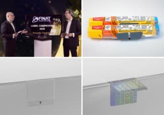 Erfolg für die Schreiner Group. Gleich 3 erste Plätze errang das Unternehmen beim FINAT-Award (Quelle: Schreiner Group)