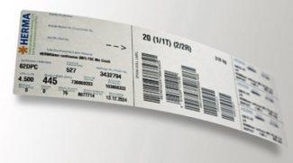Die branchenweit standardisierten EPSMA-Labels für den Versand von Haftmaterialrollen hat Herma jetzt komplett umgestellt auf Etiketten aus 100prozentigem Recyclingpapier (Quelle: Herma)