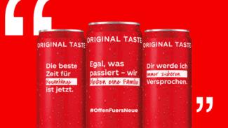 Coca Cola realisierte gemeinsam mit All4Labels eine Kampagne für neue Ideen und einer Auflage von 15 Millionen im Digitaldruck individualisierten Sleeve-Etiketten (Quelle: All4Labels)