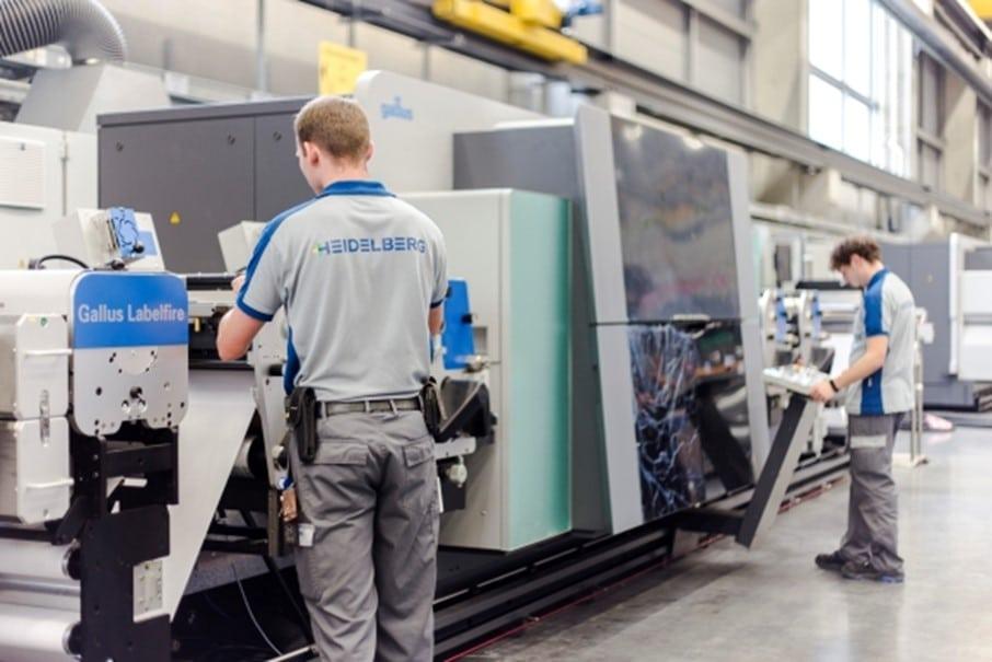 Produktion einer Gallus Labelfire 340. (Bild: Heidelberger Druckmaschinen AG)
