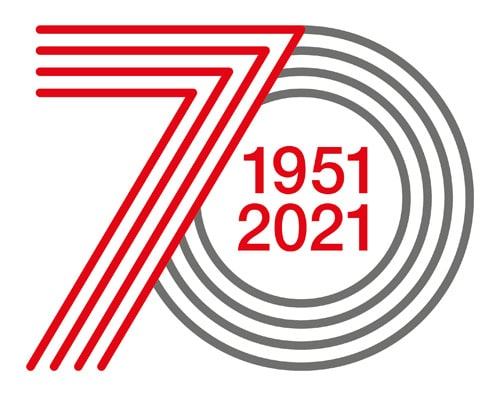 Das zum 70sten geschaffene Logo wird das Jubiläumsjahr begleiten (Quelle: Schreiner Group)