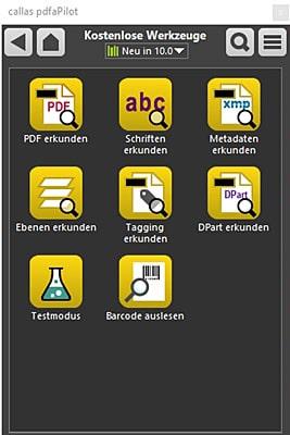 Beim Download der Testversionen oder Kauf von pdfaPilot und pdfToolbox legt callas acht neue Tolls kostenlos dazu (Quelle: callas)