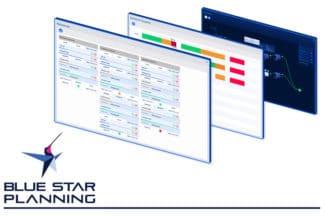 APS (Advanced Planning & Scheduling) von Blue Star Planning ist eine spezialisierte ergänzende Software, die Ihre Planung mit hochentwickelter Intelligenz zum primären Prozess macht (Quelle: Blue Star Planning)