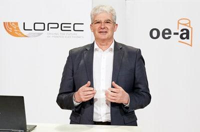"""Dr. Klaus Hecker, Geschäftsführer OE-A: """"Der Wunsch nach Austausch und Weiterentwicklung spiegelte sich auf der diesjährigen Lopec wider."""" (Quelle: Lopec)"""