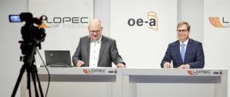 Falk Senger, Geschäftsführer Messe München und Wolfgang Mildner, General Chair der Lopec, ziehen eine sehr positive Bilanz nach der dreitägigen Online-Veranstaltung der Lopec (Quelle: Lopec)