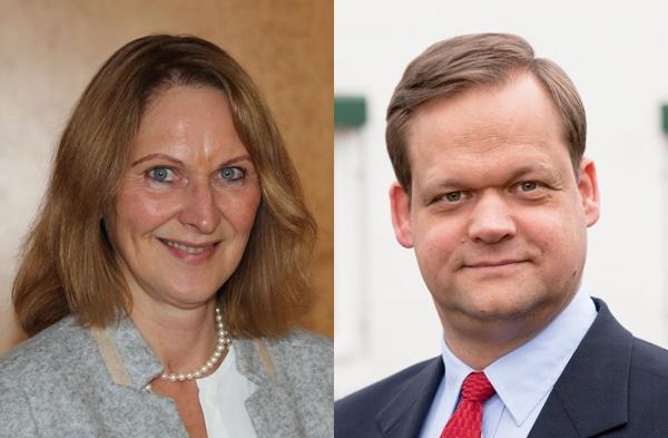 Anke Hoefer, Geschäftsführerin Top-Label, Hildesheim und Robert Maegerlein, Geschäftsführer MC-Line, Marburg