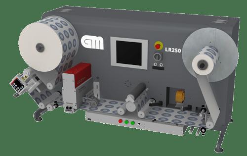 Der LR250 Label Inspection Rewinder kann Etikettenrollen bis zu einer Breite von 250 mm (bis zu 9,8 Zoll) bei einer hohen Produktionsgeschwindigkeit von 200 m/min (656 ft/min) verarbeiten (Quelle: GM)