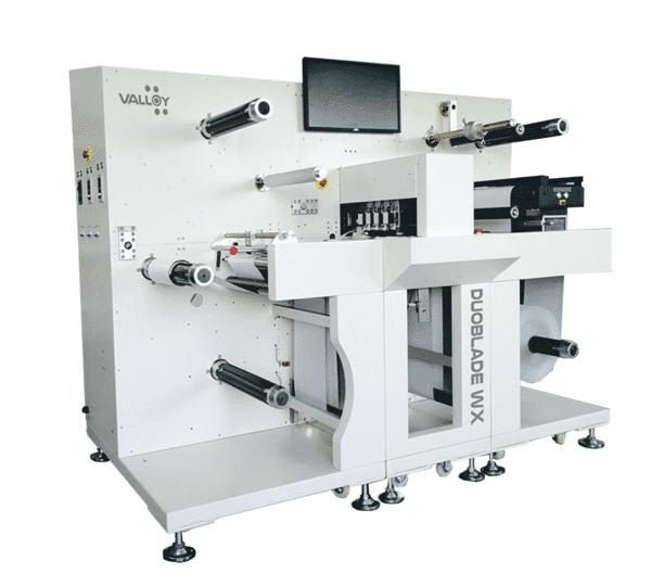 Der Duoblade WX von Valloy soll die digitale Konfektion von gedruckten Rollenetiketten im kleinen und mittleren Auflagenbereich schneller und einfacher machen (Quelle: Valloy)