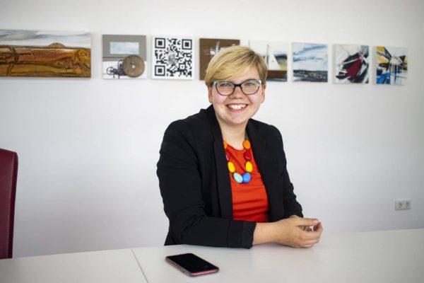 """Friederike Heckmann, Geschäftsführerin, Kemna Druck Kamen: """"Das Thema """"Ouote"""" ist für uns als Handwerksunternehmen unrelevant."""""""