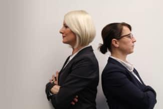 """Nicole Fischer (l.) und Angela Nawrot, Geschäftsführerinnen, EKS-Label: """"Wir sind keine Anhängerinnen von strikten Frauenquoten."""" (Quelle: EKS-Label)"""