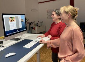 """Susanne Daiber: """"Wir haben heute 15 Mitarbeiterinnen von 36 und das in einem technischen, produzierenden Betrieb."""" (Quelle: Etiket Schiller)"""