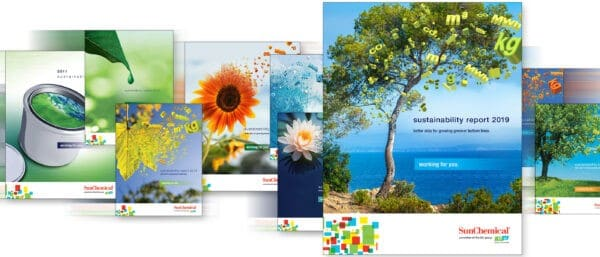 Sun Chemical legt Wert auf nachhaltige Produkte und fertigt dazu diverse Reports an, die angefordert werden können (Quelle: Sun Chemical)