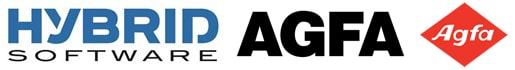 Logos Agfa und Hybrid Software