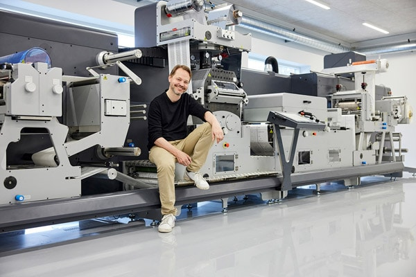 Uffe Nielsen hat das Unternehmen Grafisk Maskinfabrik A/S 2017 von seinen Eltern übernommen und führt es erfolgreich weiter (Quelle: GM)