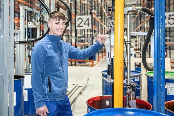 Die hubergroup-Produktion am neuen Standort Polen ist angelaufen und das Werk beliefert nun vorwiegend osteuropäische Kunden (Quelle: hubergroup