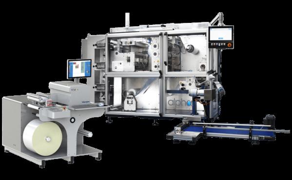 Der Nearline-Drucker VSdFlex von V-Shapes, entwickelt in Zusammenarbeit mit Memjet und ColorGate zur Verbindung mit dem Inline-Verpackungssystem Alpha von V-Shapes (Quelle: V-Shapes)