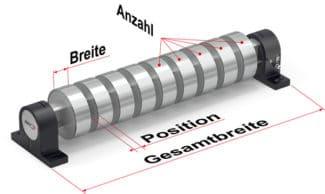 Die FMS-segFORCE Messwalze bietet Produzenten und Maschinenbauern im verarbeitenden Gewerbe die Möglichkeit den Bahnzug von einzelnen, geschnittenen Streifen präzise zu messen (Quelle: FMS)