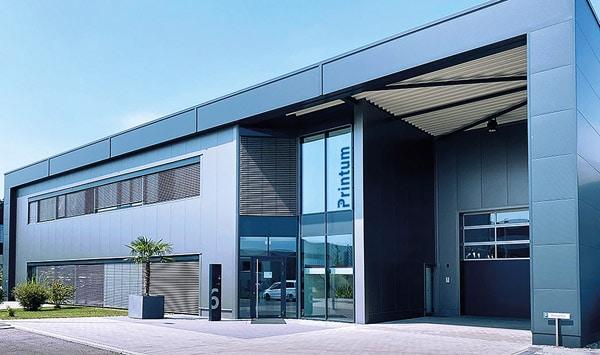 Blick auf die Produktionsstätte der Printum Technology GmbH in Ravensburg (Quelle: Printum)