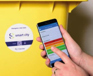 Beispiel Abfallcontainer: Leeren bei Bedarf (Quelle: smart-Tec)