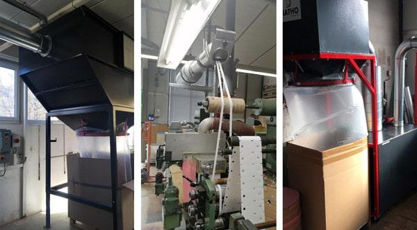 Die neue Matho-Absaugsysteme von Matho sorgen bei Etiketten Becker für weniger Abfall und eine Reduzierung der Maschinenstillstände (Quelle: Matho)