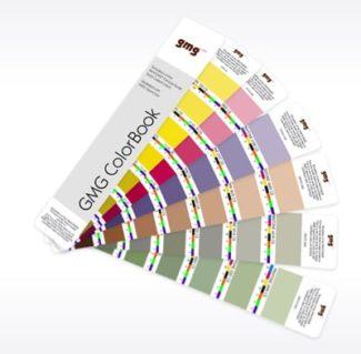 Mit dem GMG ColorBook stellen Digitaldrucker ihren eigenen Fächer her und zeigen damit die individuellen Druckbedingungen (Quelle: GMG)