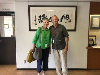 John Mayers, Geschäftsführer von Positive ID Labels, bei seinem Besuch in der Zentrale von Screen in Kyoto (Quelle: Screen)